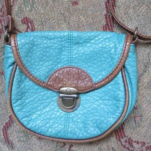 American Eagle small blue/brown crossbody bag, new